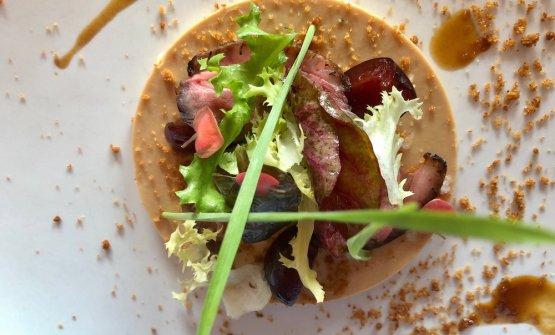 Foie gras marinato nello shio koji