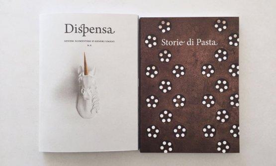 La copertina di Storie di Pasta (volume a destra),realizzata da Dispensa e Monograno Felicetti. E'in omaggio per tutti coloro che acquistano onlineDispensa numero 8(volume a sinistra), 21 euro più spedizione
