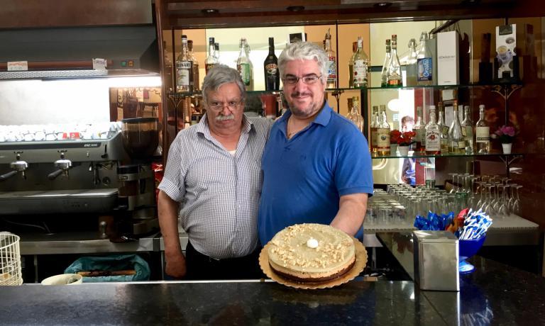 Peppino e il figlio Michele Sparono