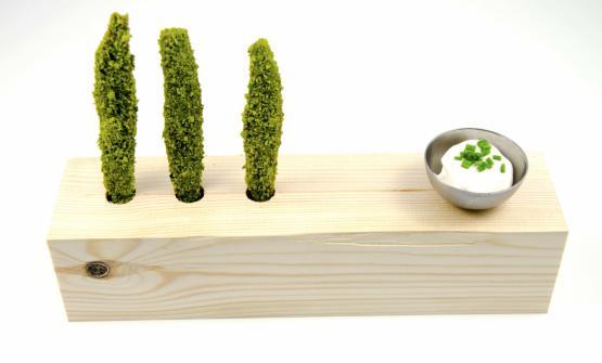 Un piatto che nasce da una collaborazione, trasportato dal suo successo nella carta del ristorante PS, diCerreto Guidi (Firenze), guidato dallo chef Stefano Pinciaroli