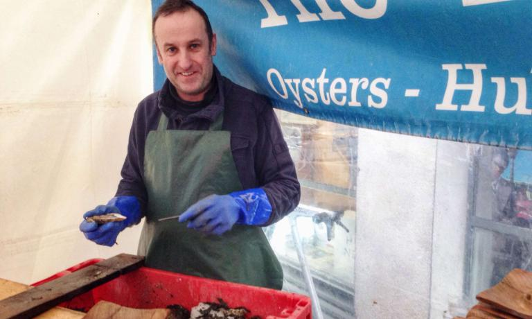 Stephen Kavanagh, on top of managing a popular kiosk called Oyster Bar, is the owner of Marine Health Foods, through which he presents many products derived from seafood, both for food and medicine