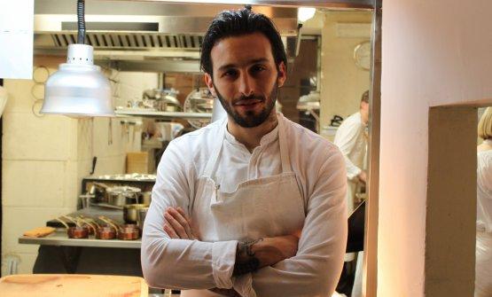 Floriano Pellegrino, chef del suo ristorante di Lecce, Bros