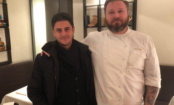 Matteo Torretta col socio/proprietario Antonio Pianu. Con loro in società c'è anche Antonio Zucca