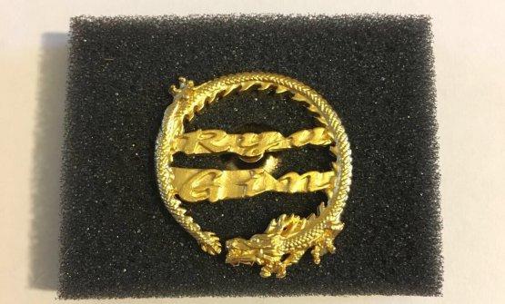 La medaglia premiodi Biassonia fine stage:«Te la danno solo sesei stato bravo»