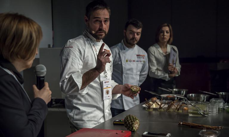 La cucina di prossimità diMiguel de la Cruzde La Botica de Matapozuelos, in Spagna a Valladolid