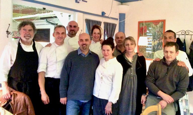Foto di gruppo dei professionisti della ristorazio