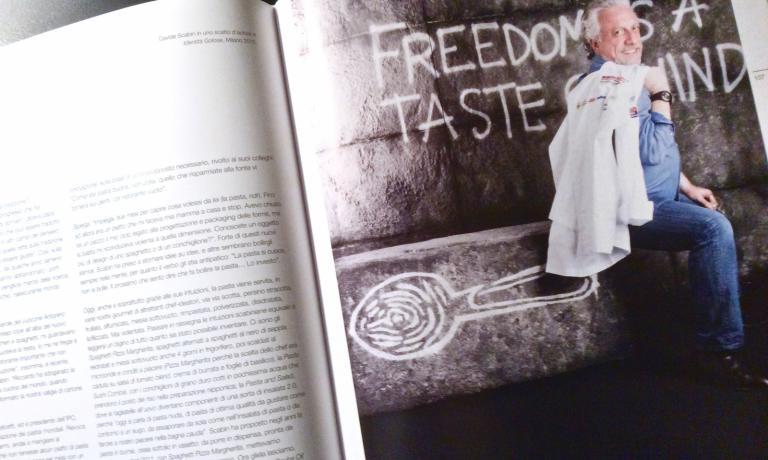 La foto dedicata a Scabin in Pasta in Tavola, curato da Carlo Ottaviano per Banco Popolare