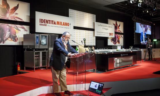 Paolo Marchi sul palco di Identità: l'edizion