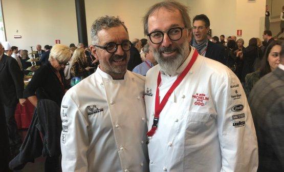 Mauro Uliassi e Norbert Niederkofler, rispettivamente chef del decimo e nono ristorante con 3 stelle Michelin