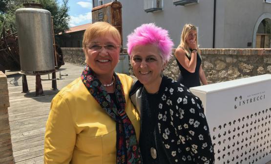 Lidia Bastianich e Cristina Bowerman