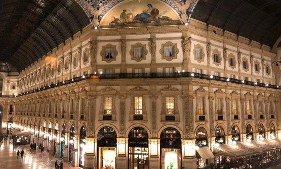 La vista sulla Galleria Vittorio Emanuele II