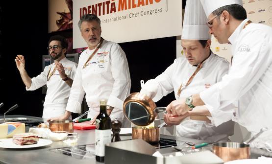 A sinistra, Franco Aliberti e Gianni Tarabini, coppia campano-valtellinese della Fiorida di Mantello (Sondrio)