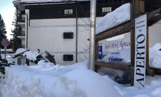 La situazione neve al Cantinone, una settimana fa