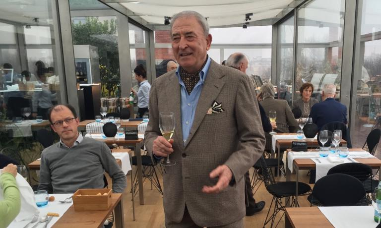 Vittorio Morettiieri pomeriggio al ristorante Te
