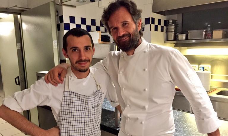 Luca Sacchi e Carlo Cracco, sodalizio vincente a Milano (foto Zanatta)