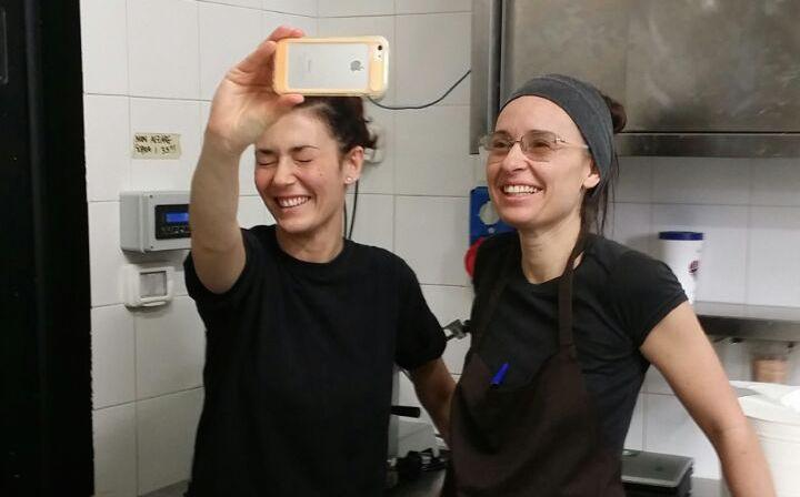 Silvia Capuano and Annalisa Macellaio, respectively curator of the external events and sous chef at Romeo, Cristina Bowerman's second restaurant in Rome