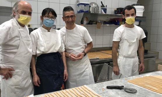Left to right,Corrado Assenza, the maestro pastr