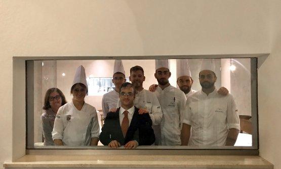 La squadra del ristorante Abbruzzino a Catanzaro L