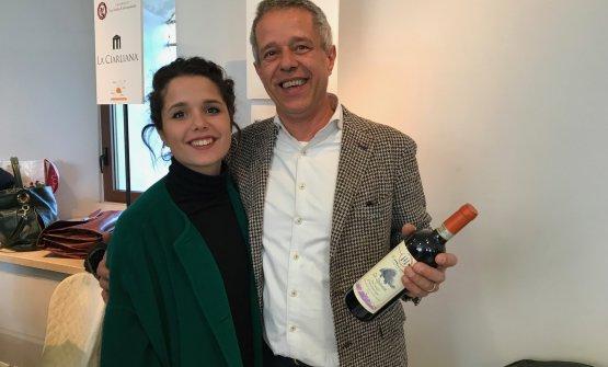 Alessandro Sartini con la figlia Francesca, azienda Il Molinaccio