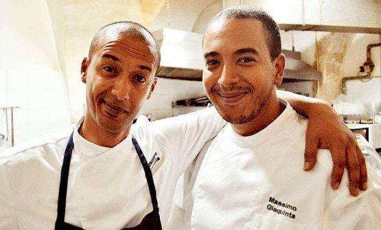 Massimo Giaquinta, a destra, col fratello Giuseppe