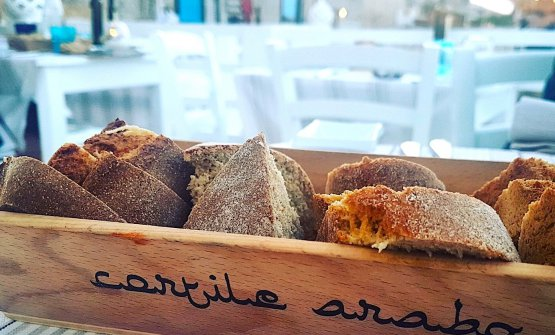 Bread at Cortile Arabo in Marzamemi: made with fl