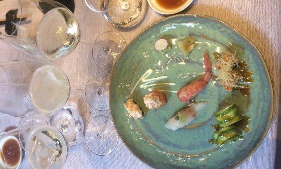Superbo il pairing tra i vini dell'azienda e i piatti dell'Iyo, teatro della serata