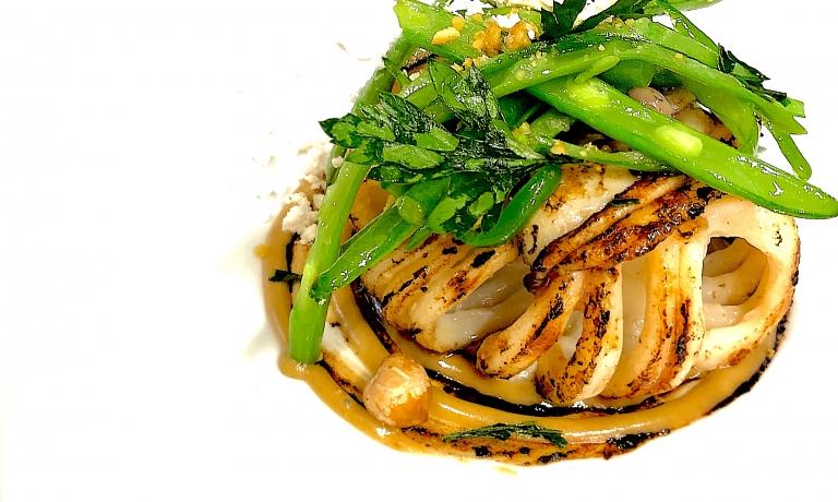 Calamaro marinato alla piastra: il piatto dell'autunno di Fabrizio Ferrari