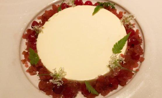 Sour cream parfait, rhubarb sorbet, wild berries, rhubarb, vanilla
