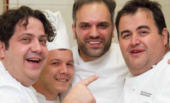 Gianluca Fusto,Francesco De Padova (secondo pasticcere alla Torre del Saracino),Carmine Di Donna, Gennaro Esposito