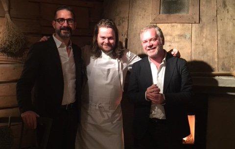 L'autore di questo articolo, Fulvio Marcello Zendrini, col compagno Mario Pietraccetta insieme a Magnus Nilsson