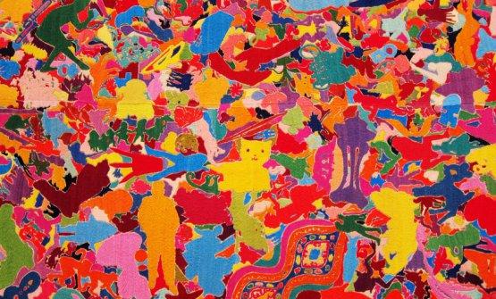 Tutto, detail,Alighiero Boetti, 1988