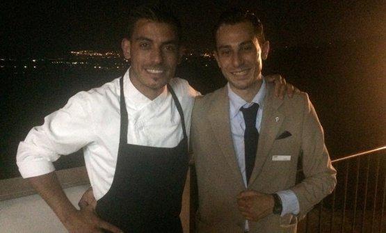 Lo chef Peppe Torrisi e il maître Piero Pappalardo