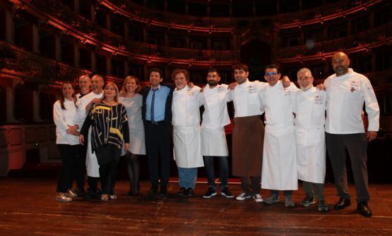 Gli chef con il sindaco di CremonaGianluca Galimberti, Roberta Garibaldi e Barbara Manfredini