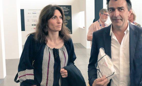 Yannick Alléno, con la moglie, al suo arrivo al Lingotto di Torino