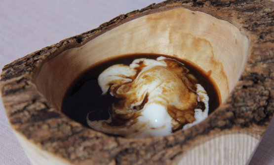 Preparazione con crema di siero