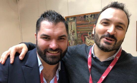 BARBUDOS. Alberto Tasinato de L'Alchimia di Milano (una stella fresca) e Remo Capitaneo (sous chef di Bartolini)