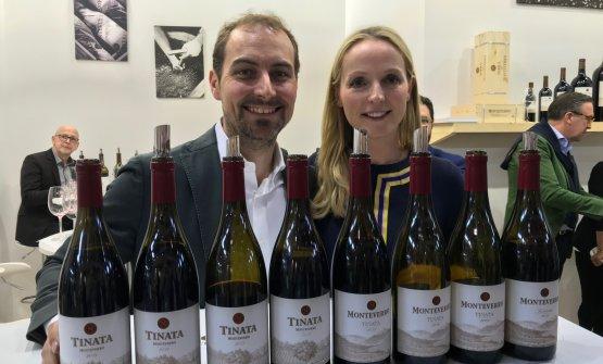 Georg e Julia Weber, titolari dell'azienda, con il Tinata dal 2008 al 2014