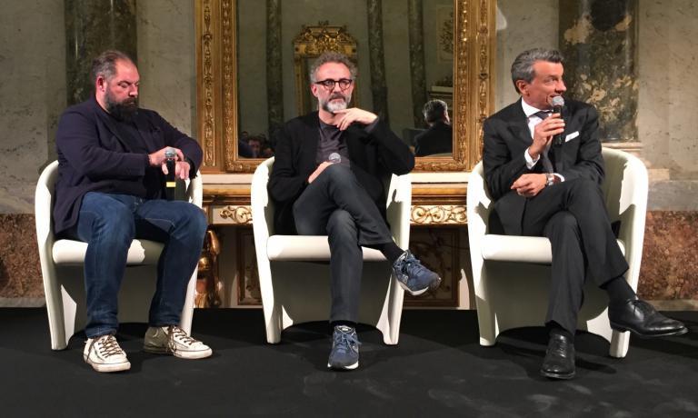 Raffaele Alajmo (Le Calandre di Rubano, Padova), Massimo Bottura (Osteria Francescana,Modena) eMauro Governato (Four Seasons Hotel,Milano)