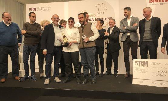 La vincitrice,Solaika Marrocco,premiata da Claudio Sadler e Giancarlo Morelli