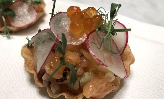 Tartelletta e salmone
