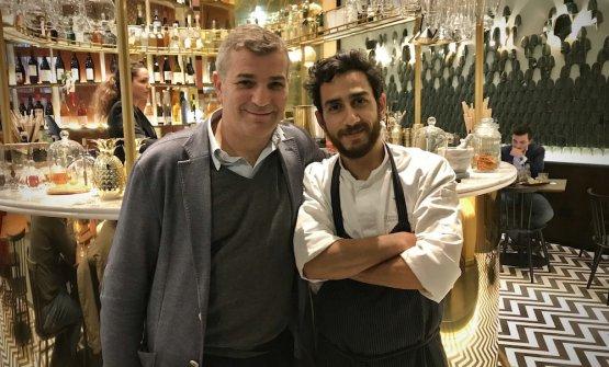 Mario Peqini, a destra, con Enrico Di Trapani, suo