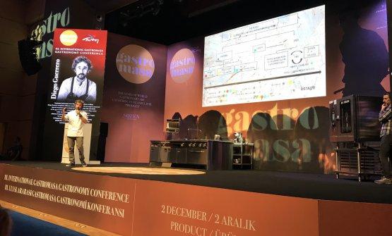 Guerrero sul palco di Gastromasa, a Istanbul