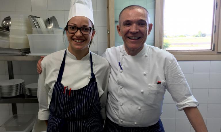 DOLCE E SALATO. Lo chefLionello Cera eSara Simionato, pasticciera dell'anno per la Guida ai Ristoranti di Identità Golose 2016