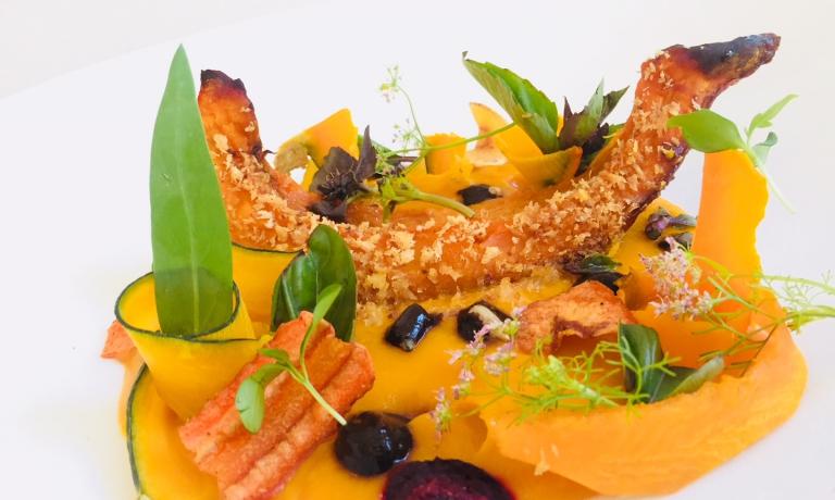 Arancione Totale, il piatto dell'autunno di Fabrizio Mantovani