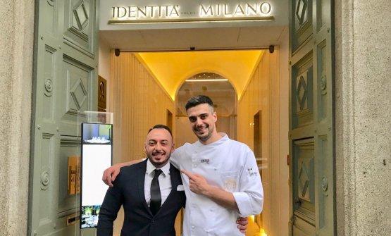 Rinaldi col suo successore a Identità Golose Milano, Simone Maurelli