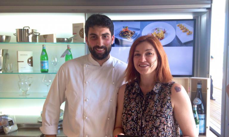 Riccardo Gaspari con Eleonora Cozzella