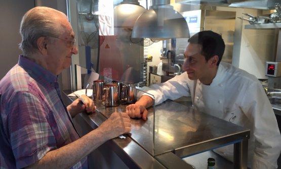 L'incontro tra Gualtiero Marchesi e Fabio Abbattista a Identità Expo, nel 2015