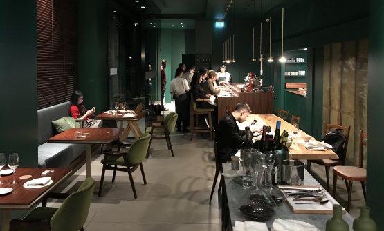 La sala a fine cena