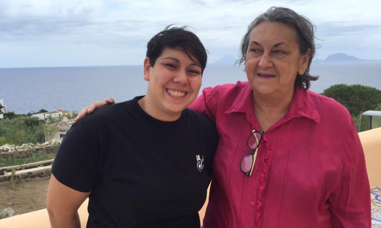 Martina Caruso e la madre Clara Rametta, assessore al Turismo del Comune di Malfa