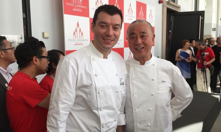Luca Fantin with Nobuyuki Matsuhisa